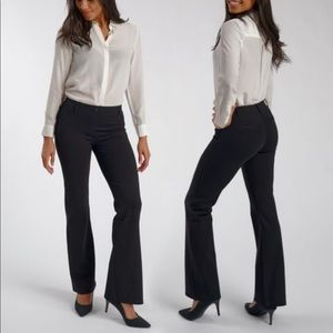 Betabrand Black Boot Cut Dress Pant Yoga Pants MP